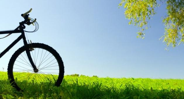 bici all'aperto